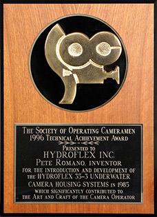 1996 Technical Achievement Award from the Society of Operating Cameramen (S.O.C.)