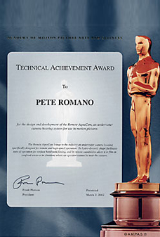 2002 Technical Achievement Award from the Academy of Motion Picture Arts and Sciences