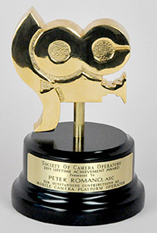 2011 Lifetime Achievement Award from the Society of Camera Operators
